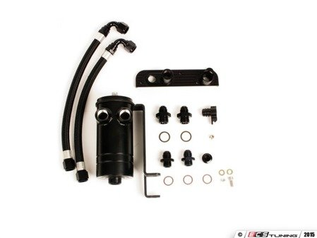 "ES#3021890 - CCF001 - BFI ""Clean Catch"" - Crankcase Oil Separator KIT - Keep your intake tract clean and oil free, with this BFI baffled Oil Catch Can System - Black Forest Industries - Audi Volkswagen"