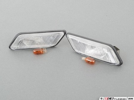 ES#2807982 - 3441401PBVC - clear Side marker - set - Replacement for your amber fender side markers - Depo - BMW