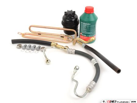 ES#2986609 - 32411141953KT1 - Power Steering Service Kit - Includes reservoir with cap, lines, bolts & crush washers, and fluid - Assembled By ECS - BMW