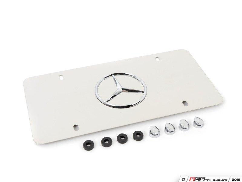 Genuine mercedes benz q6880058 license plate frame for Mercedes benz stainless steel license plate frame