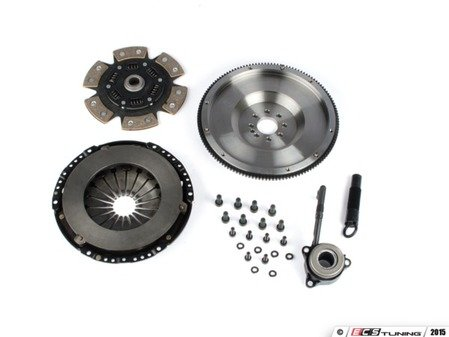 ES#3021861 - BFI20T3240ST5 - BFI Stage 5 Clutch Kit - Forged Steel Flywheel (18.85lbs) - Includes a lightweight 4140 forged steel flywheel, performance pressure plate and sprung 4-puck ceramic clutch disk. Rated for 550wtq. - Black Forest Industries - Volkswagen