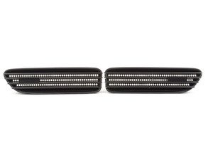 ES#2608700 - BM32-M301-B - Fender Blackout Grille Set - Matte Black - Add style and individuality to your E46 M3 in minutes - ECS - BMW