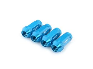ES#3006034 - LG0180BL - 19mm Conical Seat Lug Nut - Set Of Four - Blue - Replacement set for lost or damaged lug nuts (14x1.5mm) - VMS Racing - Audi Volkswagen
