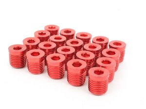 ES#3006139 - AR0898RD - Lug Nut Cap - Set Of 20 - Red - Billet Aluminum Anodized Lug nut caps - Arospeed - Audi Volkswagen