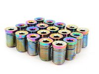ES#3006135 - AR0898NC - Lug Nut Cap - Set Of 20 - Neo Chrome - Billet Aluminum Anodized Lug nut caps - Arospeed - Audi Volkswagen
