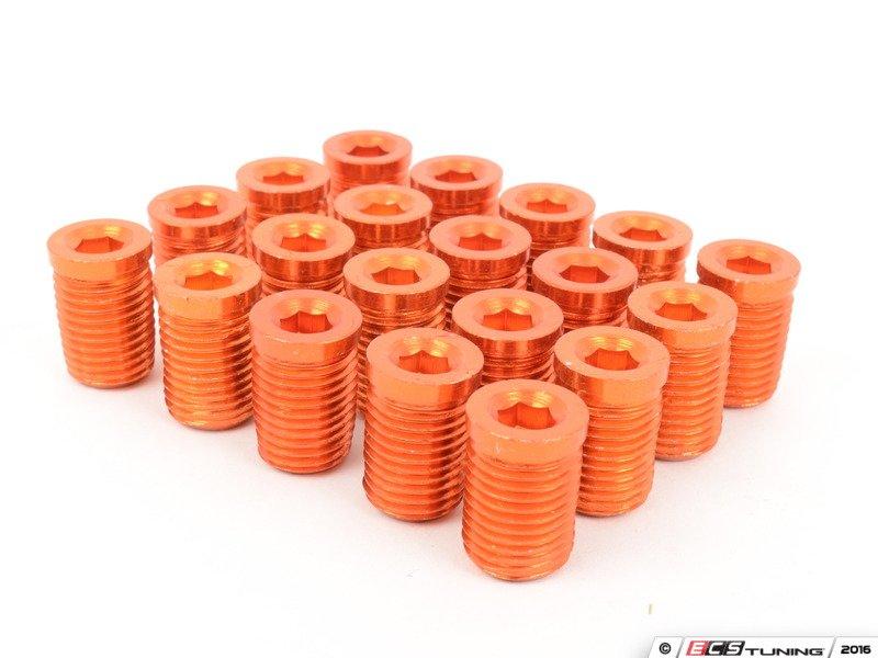Arospeed Ar0898og Lug Nut Cap Set Of 20 Orange