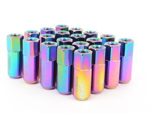 ES#3006125 - AR0915NC - 21mm Conical Seat Lug Nut - Set Of 20 - Neo Chrome - 60mm Anodized Billet Aluminum lug nuts designed for aftermarket wheels with stud conversions - Arospeed - Audi Volkswagen