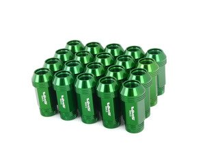 ES#3006041 - lg0180grKT - 19mm Conical Seat Lug Nut - Set Of 20 - Green - Produced for aftermarket wheels with stud conversions (14x1.5mm) - VMS Racing - Audi BMW Volkswagen