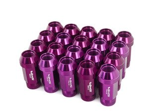 ES#3006045 - lg0180prKT - 19mm Conical Seat Lug Nut - Set Of 20 - Purple - Produced for aftermarket wheels with stud conversions (14x1.5mm) - VMS Racing - Audi BMW Volkswagen