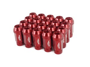 ES#3006047 - LG0180RDKT - 19mm Conical Seat Lug Nut - Set Of 20 - Red - Produced for aftermarket wheels with stud conversions (14x1.5mm) - VMS Racing - Audi BMW Volkswagen