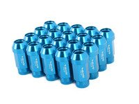 ES#3006035 - lg0180blKT - 19mm Conical Seat Lug Nut - Set Of 20 - Blue - Produced for aftermarket wheels with stud conversions (14x1.5mm) - VMS Racing - Audi BMW Volkswagen