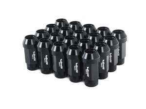 ES#3006033 - lg0180bkKT - 19mm Conical Seat Lug Nut - Set Of 20 - Black - Produced for aftermarket wheels with stud conversions (14x1.5mm) - VMS Racing - Audi BMW Volkswagen