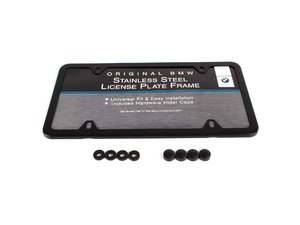 ES#196054 - 82120010399 - License Plate Frame - Black - Gloss black license plate frame from BMW - Genuine BMW - BMW