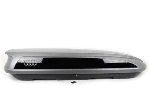 ES#2796363 - 8K0071200 - Medium Roof Box - 405Ltr - Platinum Grey - Use with your base bars for protected storage - Audi Zubehor - Audi