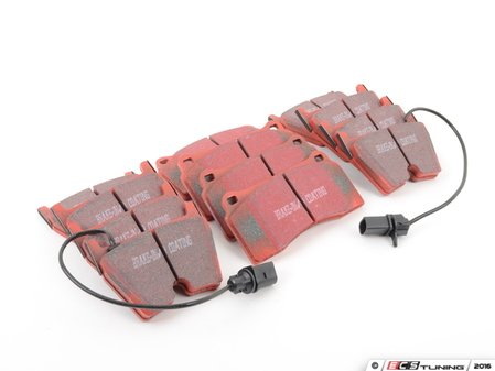 ES#2992571 - dp31513cKT2 - Front & Rear RedStuff Performance Brake Pad Kit - High performance street pad featuring Kevlar technology, includes front and rear pads - EBC - Audi