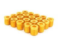 ES#3006132 - AR0898GD - Lug Nut Cap - Set Of 20 - Gold - Billet Aluminum Anodized Lug nut caps - Arospeed - Audi Volkswagen