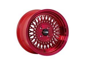 """ES#3023246 - F011584HR25KT - 15"""" F01 - Set Of Four  - 15""""x8"""" ET25 4x100 - Red - F1R Wheels - BMW Volkswagen"""