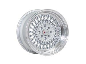 "ES#3023257 - F01158MS25KT - 15"" F01 - Set Of Four - 15""x8"" ET25 4x100/4x114.3 - Machine Silver/Polished Lip - F1R Wheels - BMW Volkswagen"