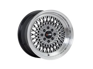 "ES#3023256 - F01158HB0KT - 15"" F01 - Set Of Four  - 15""x8"" ET0 4x100/4x114.3 - Hyper Black/Polished Lip - F1R Wheels - Volkswagen"