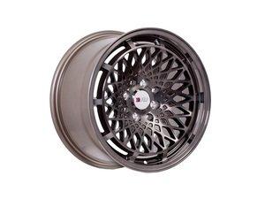 """ES#3028561 - f06158bz25KT - 15"""" F06 - Set Of Four  - 15""""x8"""" ET25 4x100/4x114.3 - Machine Bronze/Black Lip - F1R Wheels - BMW Volkswagen"""