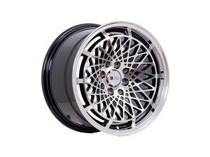 """ES#3028563 - F06158MA25KT - 15"""" F06 - Set Of Four  - 15""""x8"""" ET25 4x100/4x114.3 - Machine Black - F1R Wheels - BMW Volkswagen"""