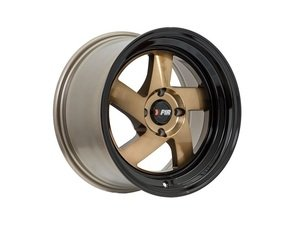"ES#3219005 - F08158BKBZ25KT1 - 15"" F08 - Set Of Four - 15""x8"" ET25 4x100 - Machine Bronze/Black Lip - F1R Wheels - MINI"