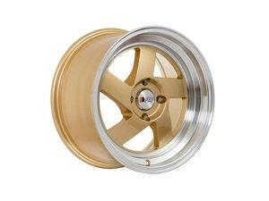 """ES#3028591 - F08158G25KT - 15"""" F08 - Set Of Four - 15""""x8"""" ET25 4x100 - Gold/Polished Lip - F1R Wheels - BMW Volkswagen"""
