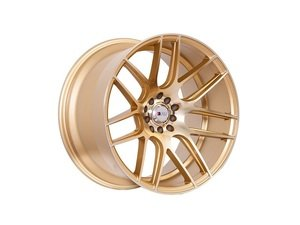 "ES#3028718 - F18189510H20GDKT - 18"" F18 - Set Of Four  - 18""x9.5"" ET20 5x100/5x114.3 - Machine Gold - F1R Wheels - Audi Volkswagen"