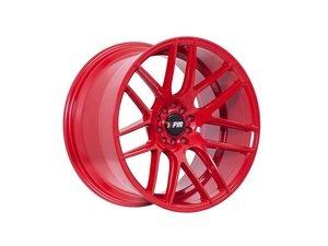 """ES#3028736 - F18189510HR35KT - 18"""" F18 - Set Of Four  - 18""""x9.5"""" ET35 5x100/5x114.3 - Red - F1R Wheels - Volkswagen"""