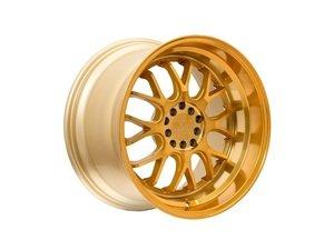 """ES#3028831 - F211885G45KT - 18"""" F21 - Set Of Four - 18""""x8.5"""" ET45 5x100/5x114.3 - Machine Gold - F1R Wheels - Volkswagen"""