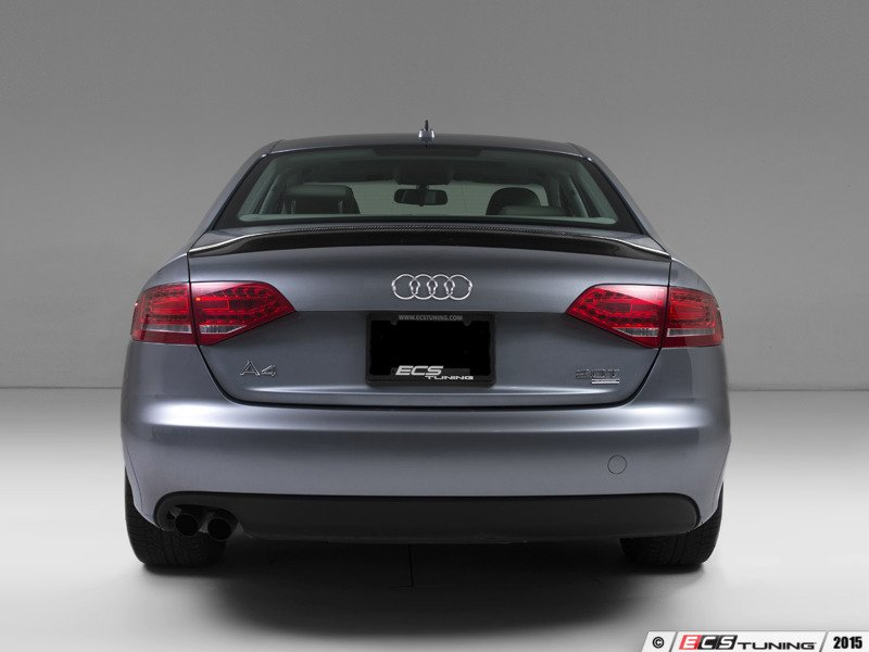 ecs news ecs carbon fiber trunk spoiler audi b8 a4. Black Bedroom Furniture Sets. Home Design Ideas