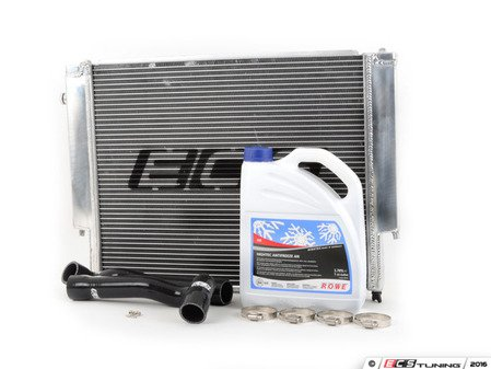 ES#3023151 - 006084ECS01AKT1 -  High Performance Aluminum Radiator with Silicone Radiator Hoses  - Looks, performance, and reliability - upgrade your cooling system today! Includes ECS radiator, silicone houses, plus coolant and hose clamps. - ECS - BMW