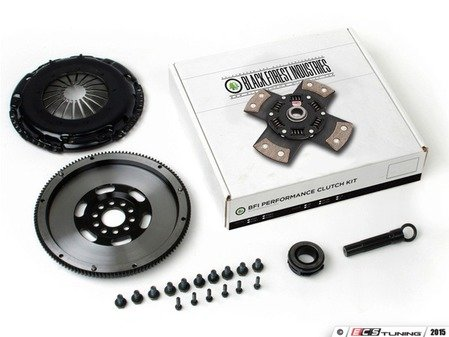 ES#3021846 - BFI18L228ST5 - BFI 228mm Clutch Kit and Lightweight Flywheel - Stage 5 - Includes a lightweight 4140 forged steel flywheel, performance pressure plate and organic clutch disc. - Black Forest Industries - Audi Volkswagen