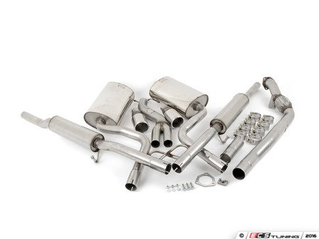 """ES#2827252 - SSXAU033 - Cat-Back Exhaust System - Resonated - 2.5"""" stainless steel with dual 90mm polished tips - Milltek Sport - Audi"""