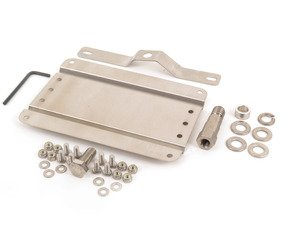 ES#3024344 - G-BMW45 - No Holes License Plate Bracket - Avoid drilling holes in your bumper by utilizing a tow hook mounted plate bracket - GMG Motorsports - BMW