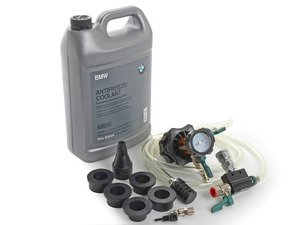 ES#3046076 - 82141467704KT - Coolant Flush Kit  - Includes 1 gallon of BMW coolant, Schwaben coolant evacuation tool, and ECS Billet Aluminum Radiator Drain Plug and bleeder screw - Assembled By ECS - BMW