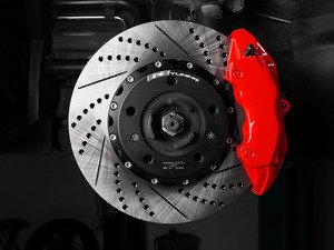 """ES#2996960 - 002662ecs01KT - Semi-Floating Two-Piece Drilled & Slotted Front Rotors - Pair 12.99"""" (330mm) - Direct bolt-on upgrade for reduced weight and additional cooling! - ECS - Porsche"""