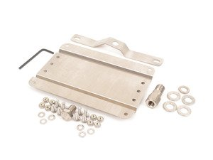 ES#3024342 - G-BMW30 - No Holes License Plate Bracket  - Avoid drilling holes in your bumper by utilizing a tow hook mounted plate bracket - GMG Motorsports - BMW
