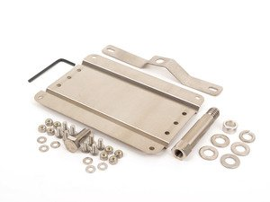 ES#3024349 - G-BMW80 - No Holes License Plate Bracket - Avoid drilling holes in your bumper by utilizing a tow hook mounted plate bracket - GMG Motorsports - BMW