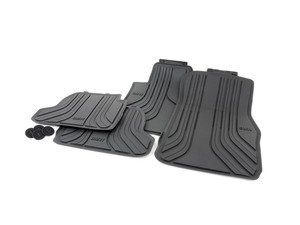 ES#2770998 - 51472210208KT - Rubber Floor Mat Set - Black - Protects your floor and carpet from moisture - Genuine BMW - BMW