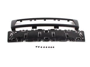 ES#263847 - 8p48072853fz - European Front License Plate Bracket - Matte Black - OEM euro plate holder for your A3 - Genuine European Volkswagen Audi - Audi