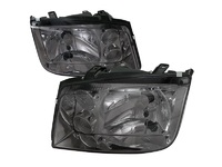 ES#3021437 - LHJET99GRS - Smoked Headlights - Pair - Euro spec OE style headlights with smoked housing - Spec-D Tuning - Volkswagen
