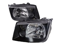 ES#3021439 - LHJET99JMRS - Blacked out Headlights - Pair - Euro spec OE style headlights with blacked out housing - Spec-D Tuning - Volkswagen