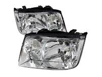 ES#3021440 - LHJET99RS - Chrome Headlights - Pair - Euro spec OE style headlights with chrome housing - Spec-D Tuning - Volkswagen