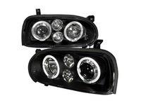ES#3021486 - LHPGLF92JMTM - Angel Eye Projector Headlight Set - Black - Updated, Blackout Angel Eye Projector Headlights! - Spec-D Tuning - Volkswagen