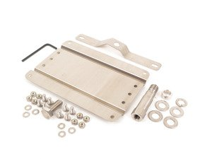 ES#3024346 - G-BMW60 - No Holes License Plate Bracket  - Avoid drilling holes in your bumper by utilizing a tow hook mounted plate bracket - GMG Motorsports - BMW