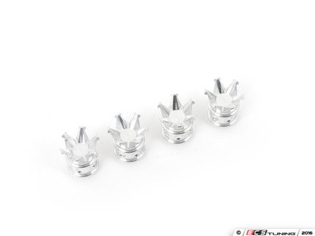 ES#3046205 - WVC007 - Crown Billet Valve Stem Caps - Machined - Billet aluminum crown shaped valve stem caps - VMS Racing - Audi BMW Volkswagen Mercedes Benz MINI Porsche