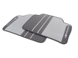 ES#2998350 - 51472409932 - M Performance Carpeted Floor Mats - Rear - Textile floor mats with M Performance logo - Genuine BMW M Performance - BMW
