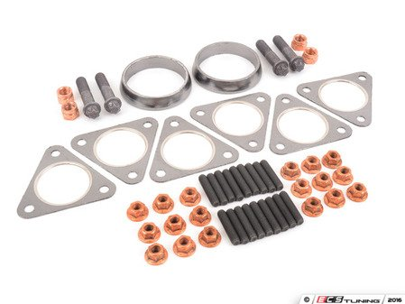 ES#3047781 - E46M311_301KT - Exhaust Manifold Install Kit - A complete hardware kit used when installing CSL or aftermarket headers - Assembled By ECS - BMW