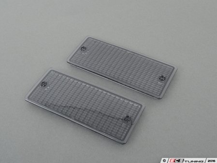 ES#3024338 - E30EARLYSMOKE - Smoked Front Turn Signal lens (pair)  - Replace your cracked or fogged turn signal covers. - Turner Motorsport - BMW